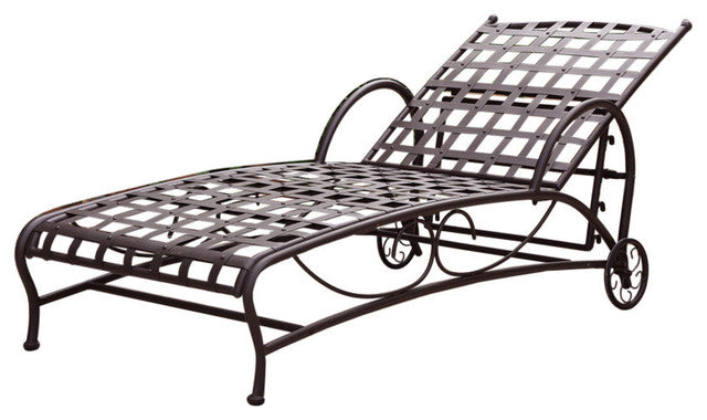Surprising Outdoor Multi Position Iron Chaise Lounge Chair In Black Theyellowbook Wood Chair Design Ideas Theyellowbookinfo
