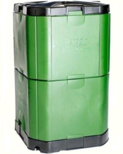 Insulated 16.5 ft. Compost Bin in Green 1.5 inch Thick Heavy Duty Plastic - YourGardenStop