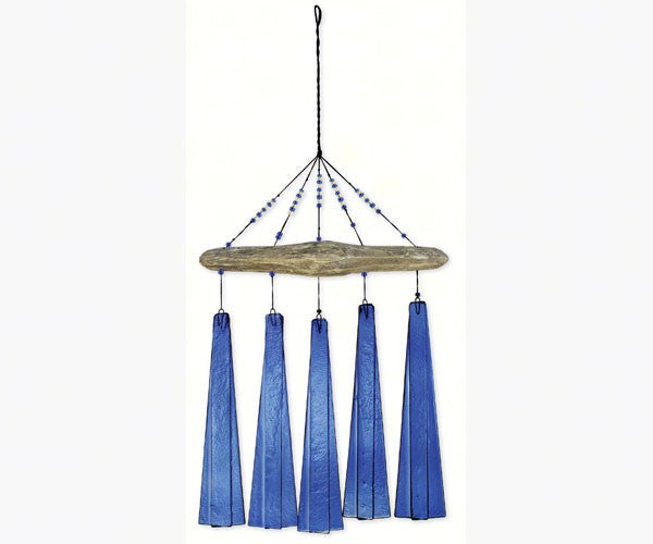 Cobalt Sea Glass Wind Chime by Sunset Vista