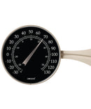 "Thermometer Large Dial 8.25"" (Black Dial in Satin Nickel Finish) - YourGardenStop"