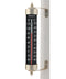 "8.5"" Thermometer High Contrast Black  (Satin Nickel) - YourGardenStop"