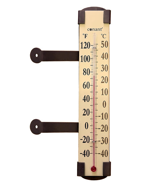 Elements Clear View Thermometer (Bronze Patina)