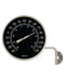 "4"" High Contrast Black Dial Thermometer (Satin Nickel) - YourGardenStop"