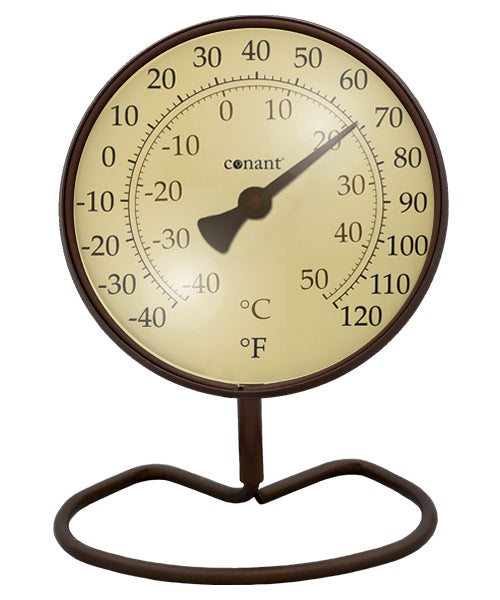 Convertible Classic Small Dial Thermometer Bronze Patina by Conant - YourGardenStop