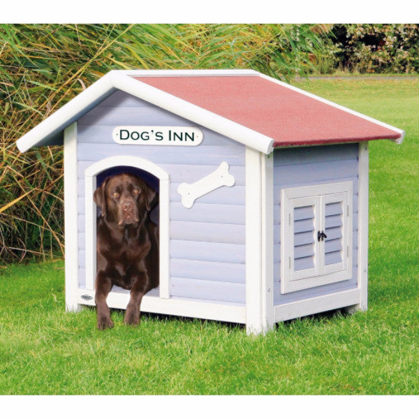 Solid Pine Wood Weatherproof Dog House with Adjustable Feet - YourGardenStop