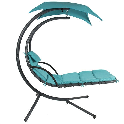 Single Person Sturdy Modern Chaise Hammock Porch Swing-Various Colors - YourGardenStop