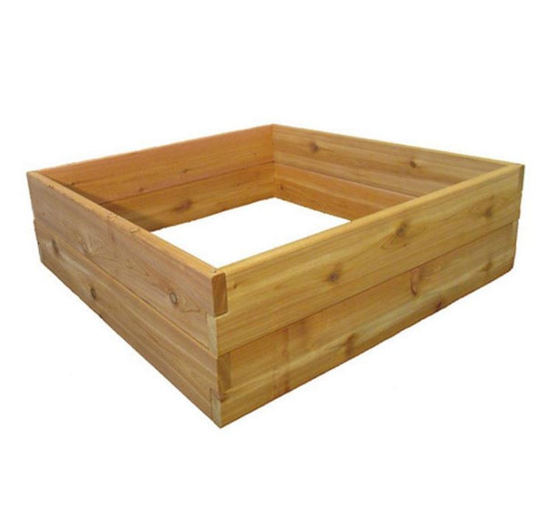 Cedar Wood 3 Ft x 3 Ft x 11 inch Raised Garden Bed Kit Made in USA - YourGardenStop