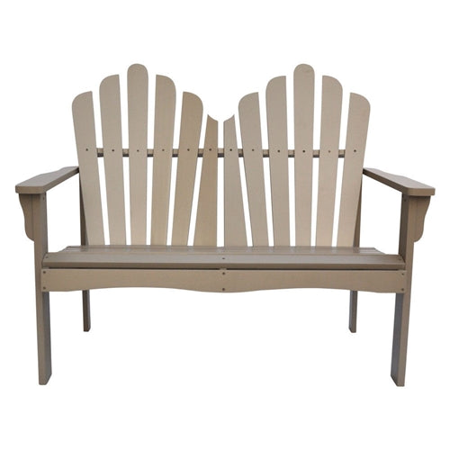 Outdoor Cedar Wood Loveseat Garden Bench in Taupe Grey Finish - YourGardenStop