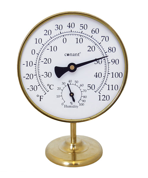 Vermont Portable Weather Station (Living Finish Brass) - YourGardenStop