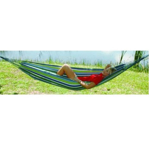 Multicolored Stripes Comfortable Cotton Hammock 40 x 120 inches - YourGardenStop