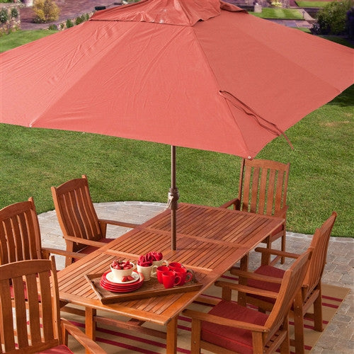 8 x 11-Ft Patio Umbrella with Red Terracotta - YourGardenStop