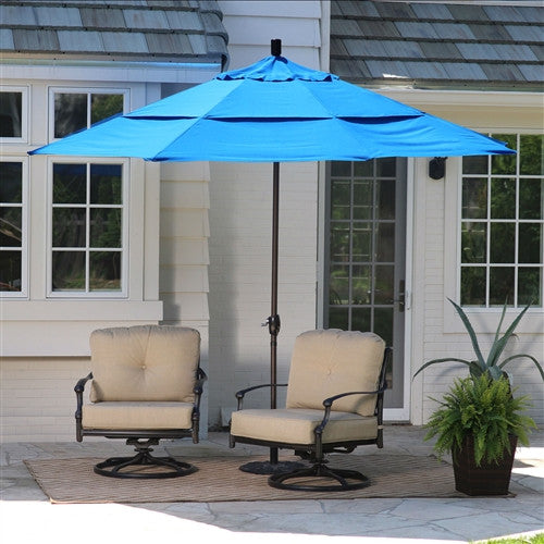 11-Ft Tilting Patio Umbrella in Pacific Blue - YourGardenStop