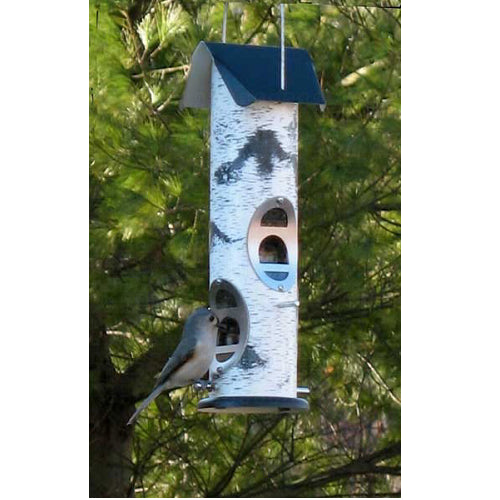 Birch Log Mixed Seed Feeder - YourGardenStop