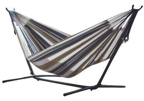 Desert Moon Pattern Cotton Hammock with 9-FT Steel Stand