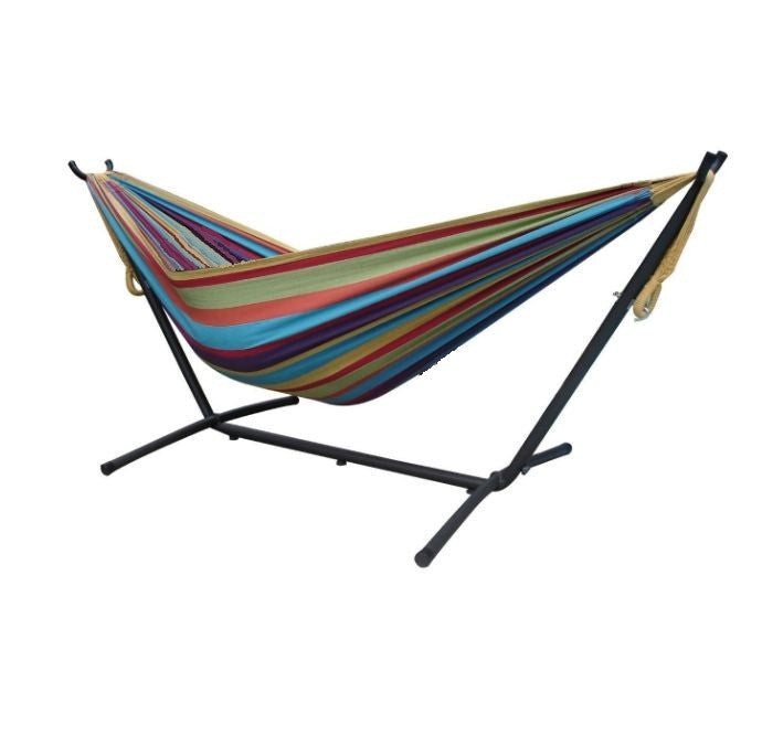 tropical fabric double hammock with 9 foot steel stand fabric double hammock with 9 foot steel stand  rh   yourgardenstop