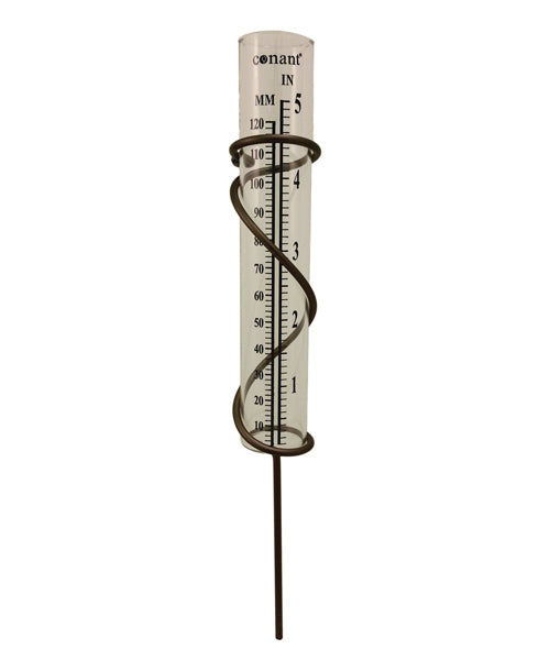 Elements Spiral Rain Gauge (Bronze Patina) - YourGardenStop