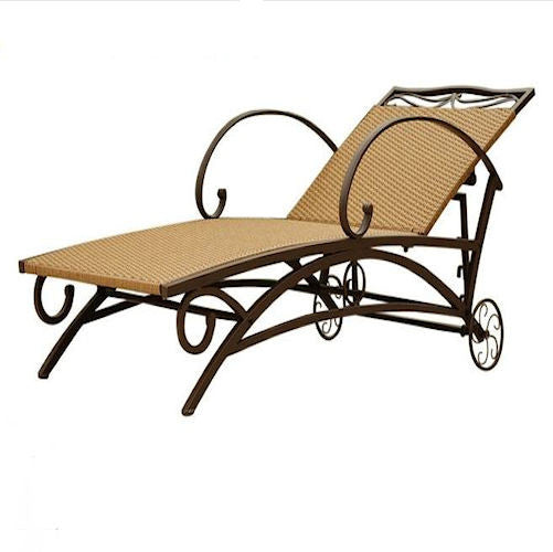 Resin Wicker/Steel Multi-Position Chaise Lounge Chair Recliner