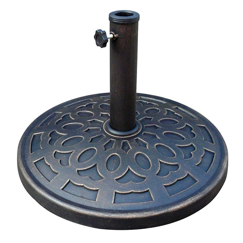 Outdoor Resin 30 lb Umbrella Base in Black Gold Finish - YourGardenStop