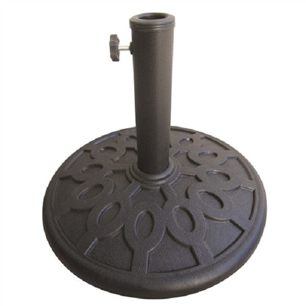 17.6 lb Sturdy Outdoor Resin Umbrella Base in Grey Black FInish - YourGardenStop