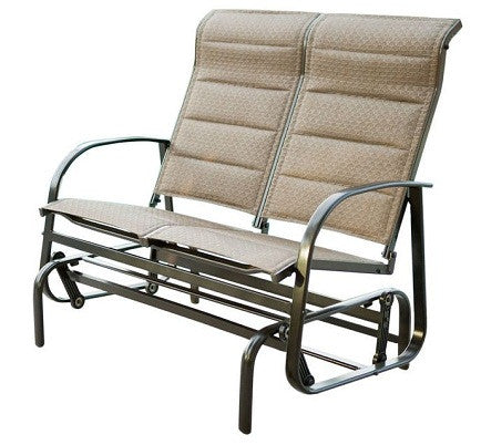 Outdoor Loveseat Glider Chair with Padded Sling Seats