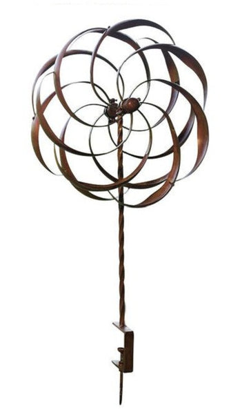 Copper Plated Metal Spinning Ornament Wind Spinner
