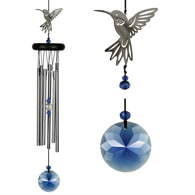 Woodstock Chimes The Crystal Chimes, Cardinal or Hummingbird - YourGardenStop