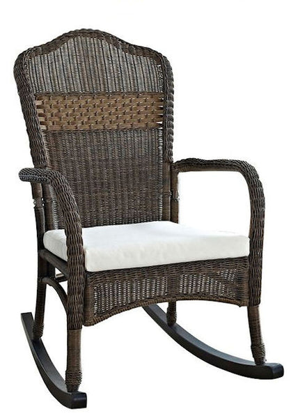 Patio-Porch-Mocha-Wicker-Rocking-Chair-with-Beige-Cushion