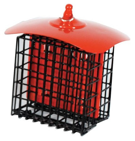 Metal Double Suet Holder in Red, Yellow or Black - YourGardenStop