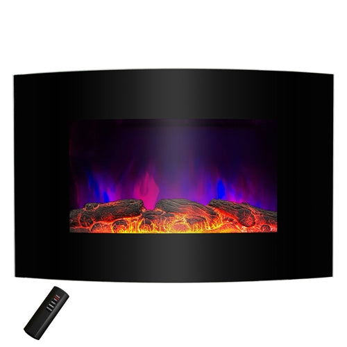 Wall Mounted Electric Fireplace Space Heater with Remote 5,200 BTU - YourGardenStop