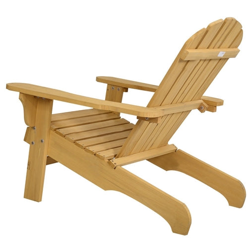 Yellow Wood Adirondack Chair for Patio Garden Outdoor - YourGardenStop