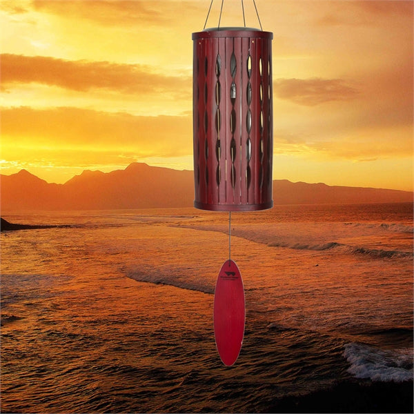 Aloha Solar Chimes by Woodstock Chimes (Purple or Natural) - YourGardenStop