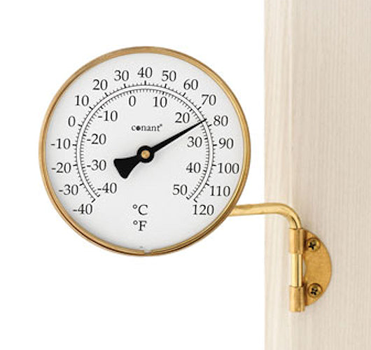 Vermont Dial Thermometer Living Finish Brass - YourGardenStop