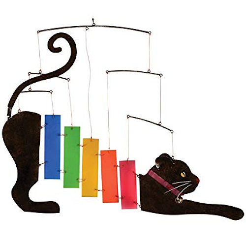 Rainbow Kittie Metal & Glass Mobile
