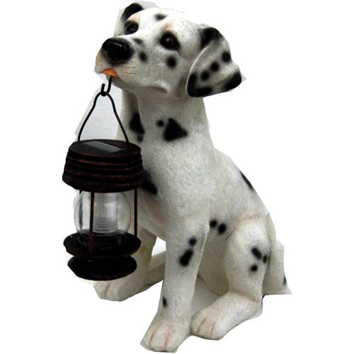 Dalmatian Dog Solar Light Lantern with Super Bright LED - YourGardenStop