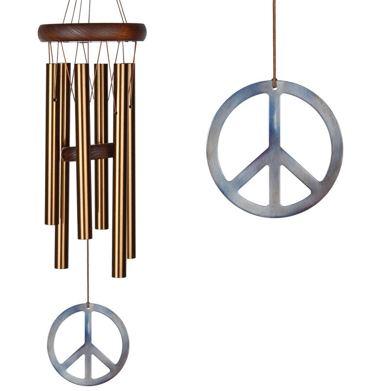 Woodstock Peace Chime - Small/Bronze - YourGardenStop