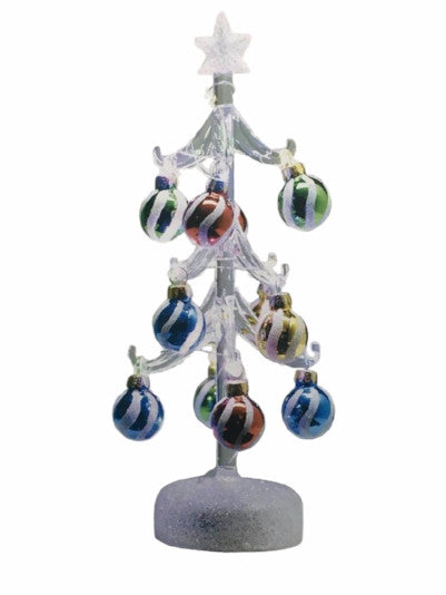 Hand Crafted Glass Tree - Light-Up - by LS Arts