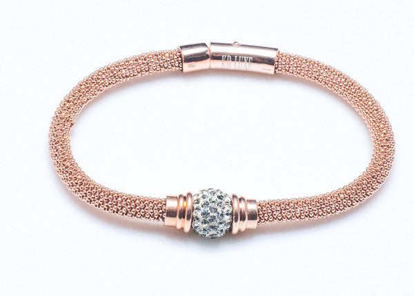 Rose Gold with Faux Diamonds