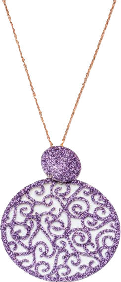 Purple Sparkle Chain Necklace