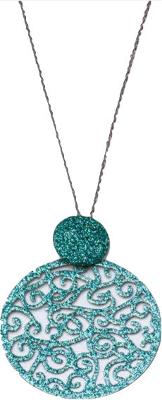 Teal Sparkle Chain Necklace