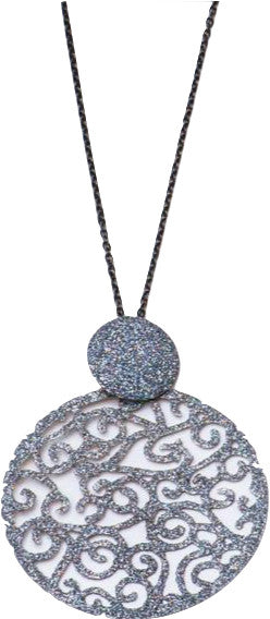 Grey Sparkle Chain Necklace
