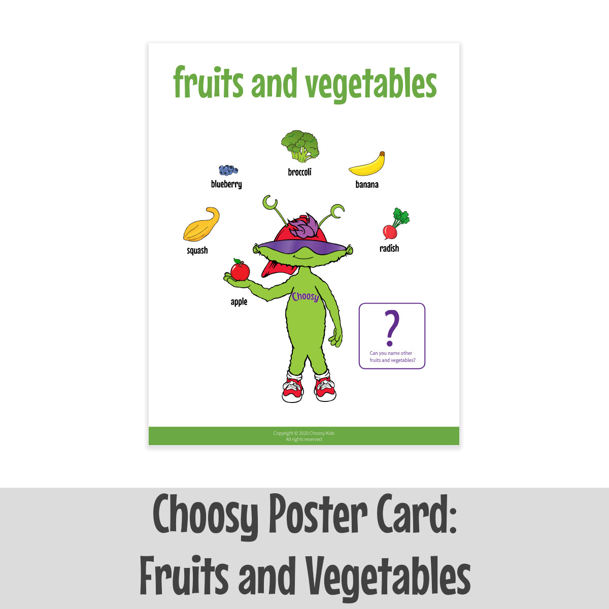 Choosy Poster Card: Fruits and Vegetables