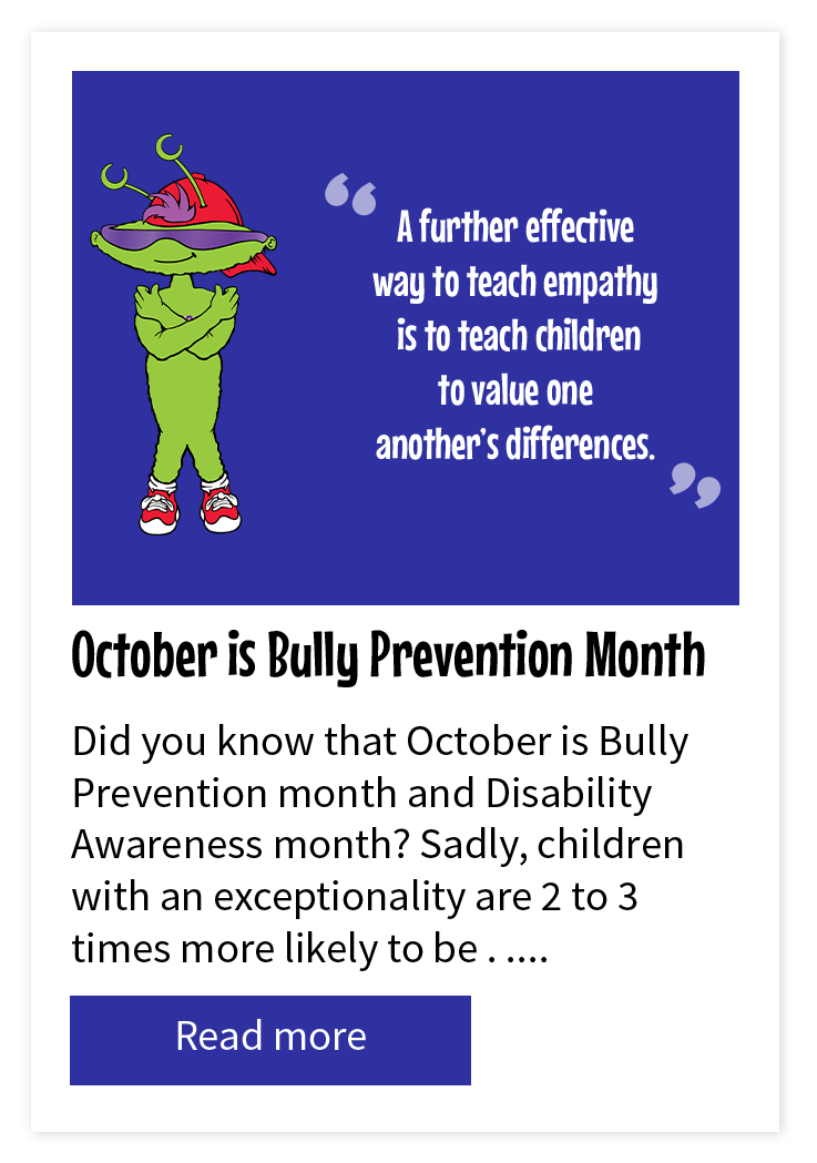 Be Nice October is Bully Prevention Month