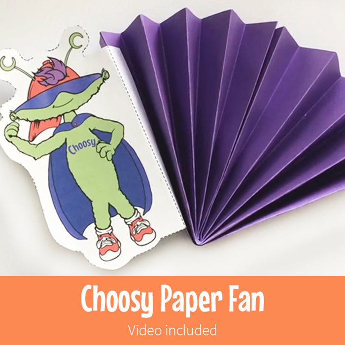 Choosy Paper Fan