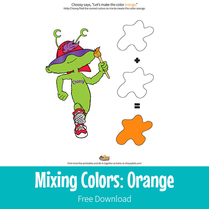 Mixing Colors: Orange