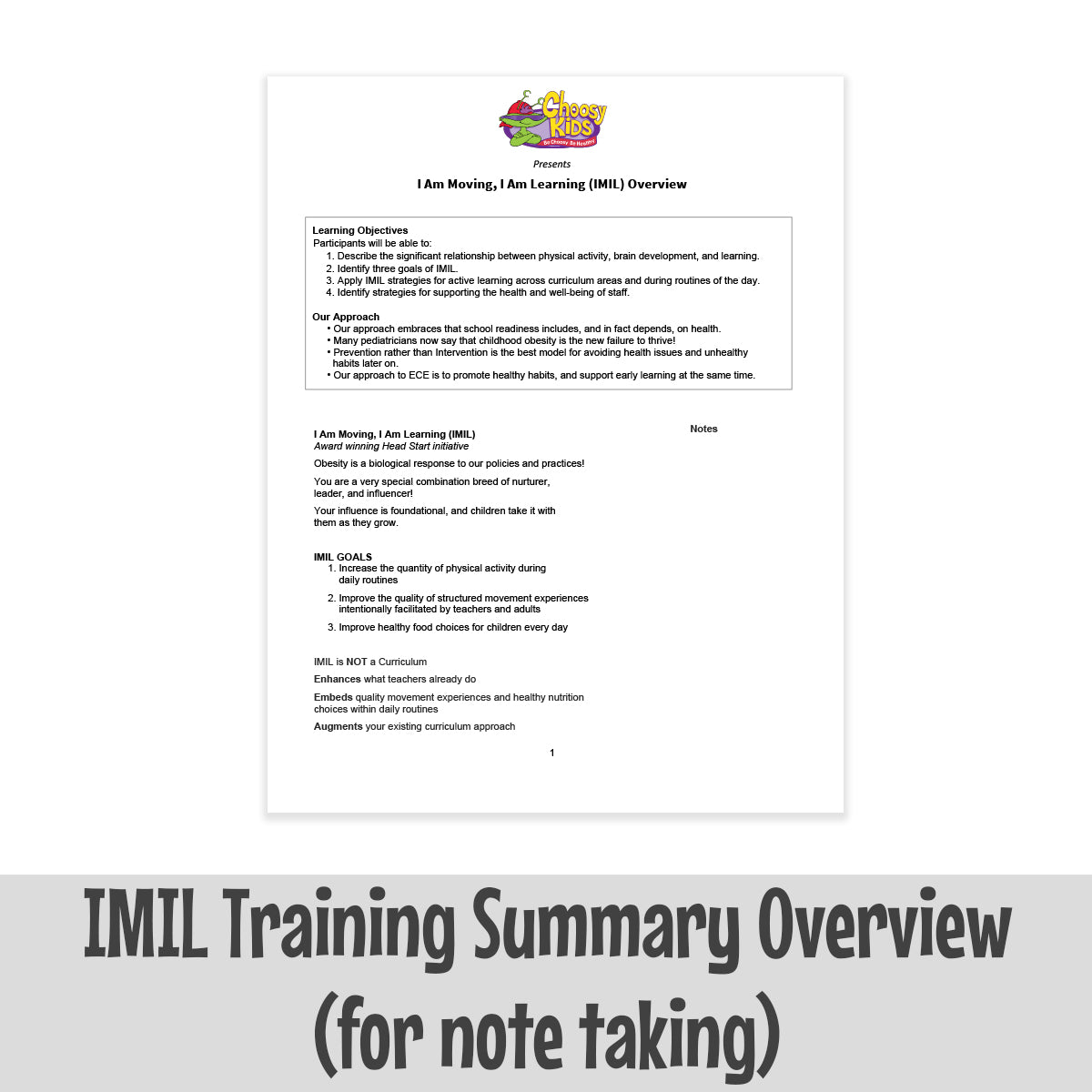 IMIL Training Summary Overview