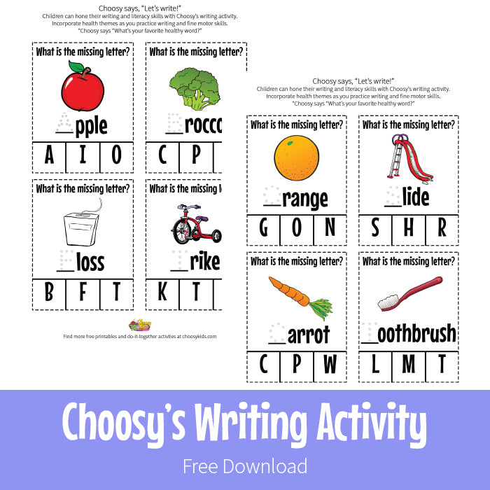 Choosy Writing Activity