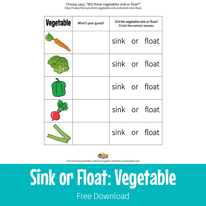 Sink or Float: Vegetable