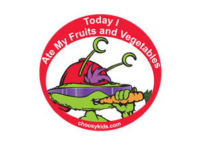 Today I Ate My Fruits and Vegetables Sticker (Pack of 20) - Choosy Kids