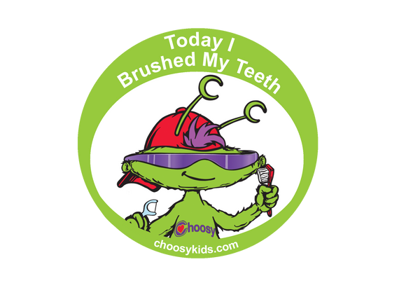 Today I Brushed My Teeth Sticker (Pack of 20) - Choosy Kids