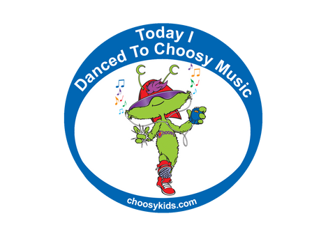 Today I Danced To Choosy Music Sticker (Pack of 20)
